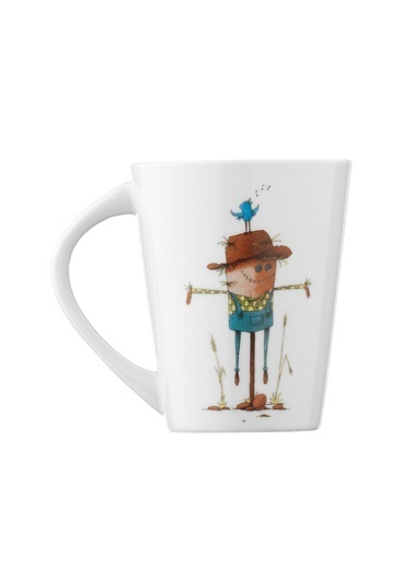 Kütahya Porselen 10947 Desen Mug Bardak Renkli